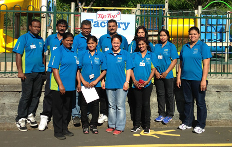 Pictured: Prem and Sonia Naicker, and Vijay Reddy and teams