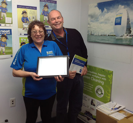 Regional Director Steve O'Connell awarding Aroha Metuamate with her 3 Years Long Service Certificate.