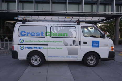 The new van signwritten for Pure Water Window Cleaning.