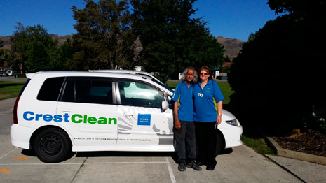 CrestClean Central Otago franchisees James and Patricia Sukhwant take pride in the work they do.