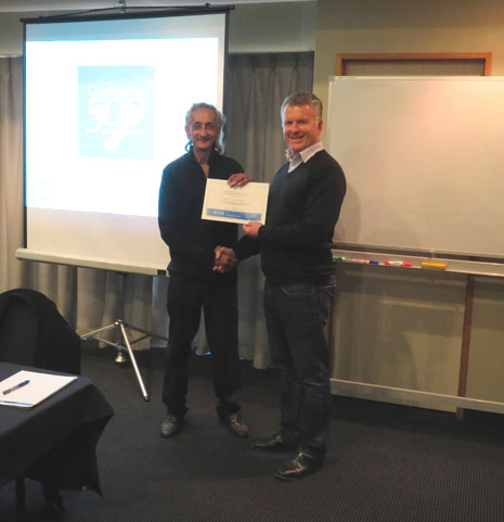 Managing Director Grant McLauchlan presented Central Otago franchisee James Sukhwant with British Institute of Cleaning Sciences (BICSc) Hard Floor Course Certificate.