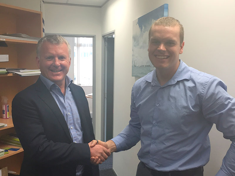 Managing Director Grant McLauchlan welcomes Philip Wilson, CrestClean's Wellington, Hutt Valley and Palmerston North Regional Quality Assurance Co-ordinator.