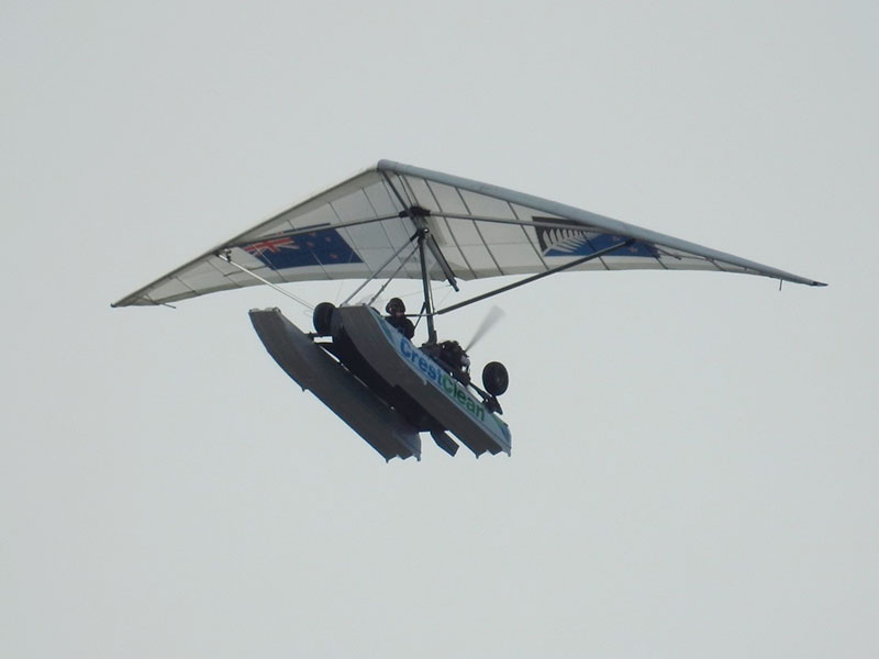 These photographs of the CrestClean Amphibious Microlight were captured by franchisee Nancy Nandan.