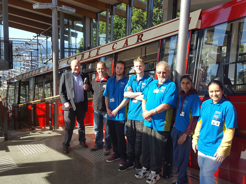Richard Brodie (CrestClean Wellington Regional Manager), Matthew Hardy (Passenger Service Manager) and our Crest teams.