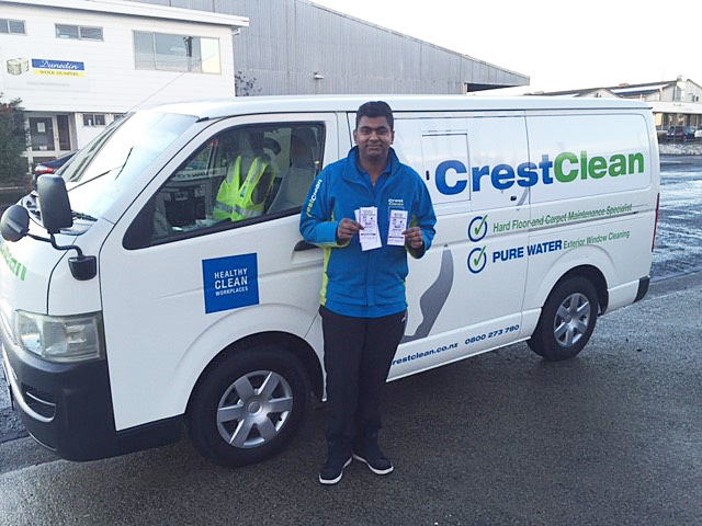 Nitij Maharaj is just 20 years old and is running his own CrestClean Franchise in Dunedin.