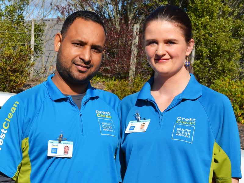 Happy Singh and Anne McKibben-Singh have a CrestClean Franchise in Nelson.