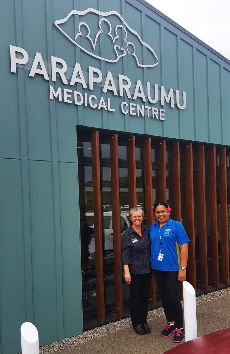Franchisee Meleka Luli prides herself on high standards. She is seen with Brenda McRae, Practice Manager at Paraparaumu Medical Centre.