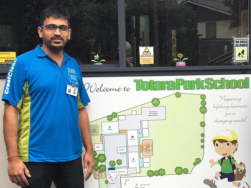 Mihir Desai loves his job at Upper Hutt's Totara Park School.