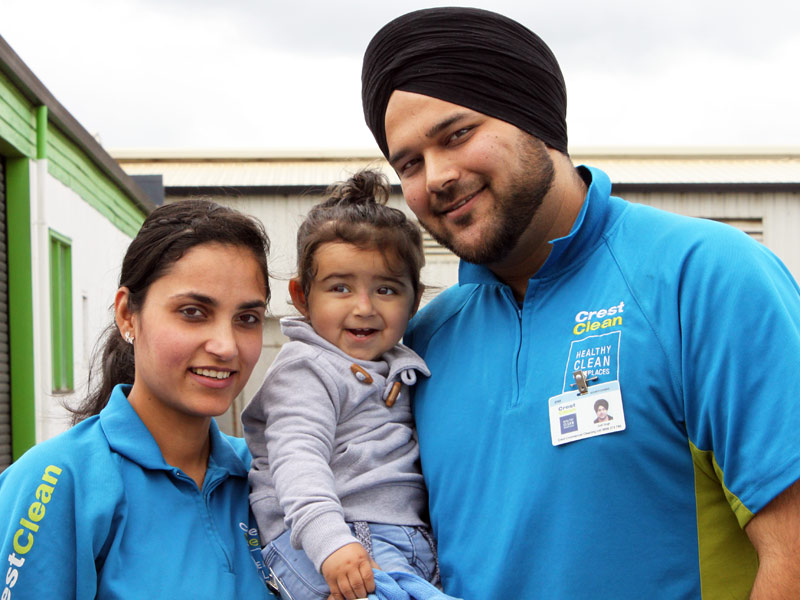 Being a franchisee gives Dimple and Joe Singh plenty of time for their daughter Avleen.