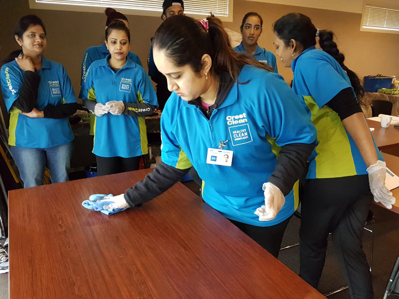 Bhartika Singh leads the way at the training session.