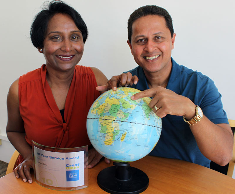 Rakesh Bhan and his wife Mohini are planning a trip to the Holy Land after receiving a $2000 travel voucher from Crest.