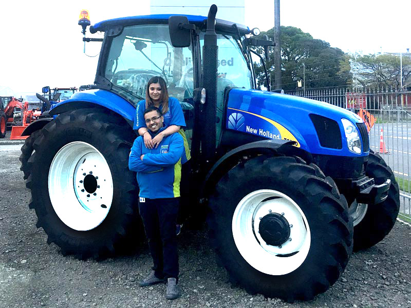 Shiv and Alka Reddy enjoy cleaning the offices Norwood Farm Machinery in Palmerston North.