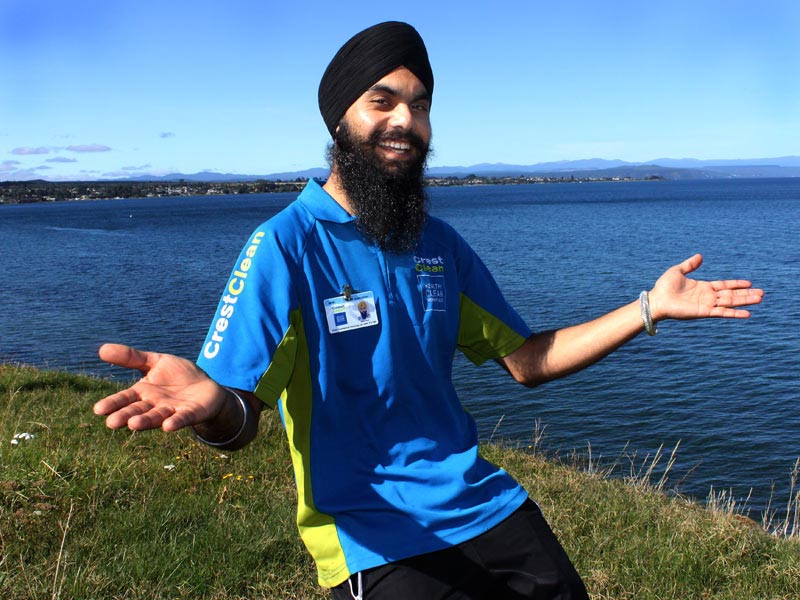 Kamal Singh loves working in picturesque Taupo where he's tripled the size of his business.