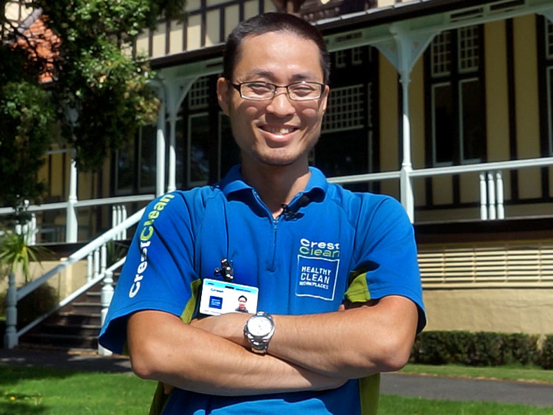 William Lin loves living in Rotorua where he has a large CrestClean franchise.