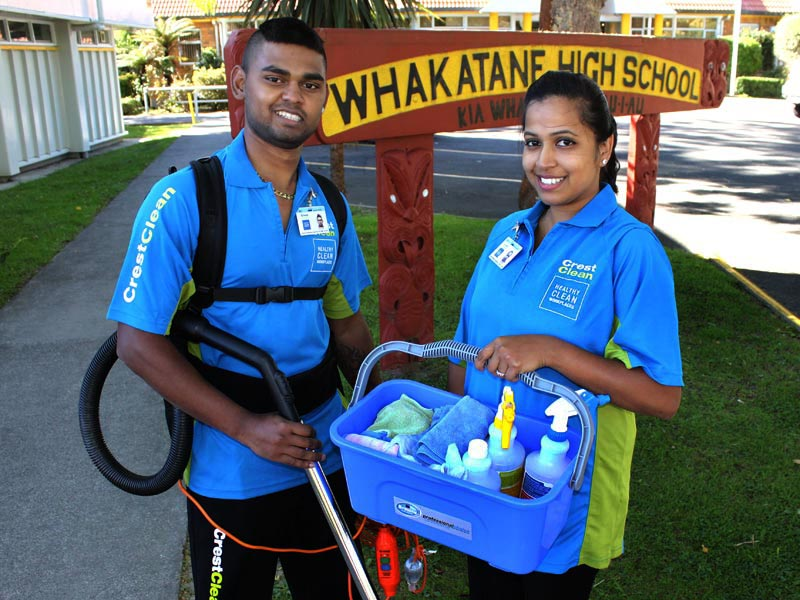 Akshay and Naina Kumar at Whakatane High School.