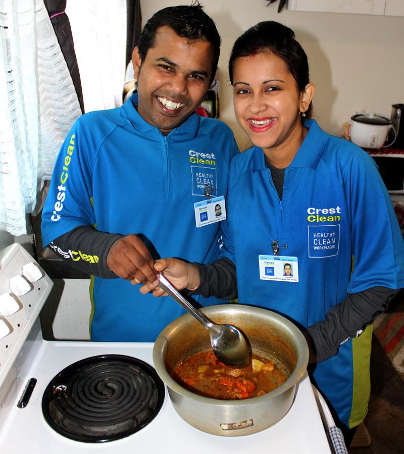 Sandeep and Ashley Vikash enjoy cooking at their Tauranga home.