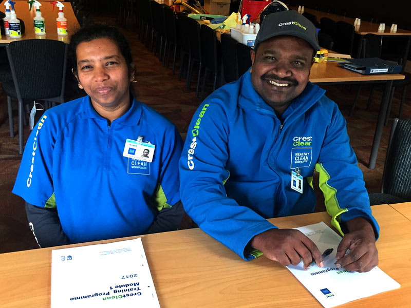 Nalin and Nadeesha Dissanayake are two new faces in CrestClean's Christchurch team.