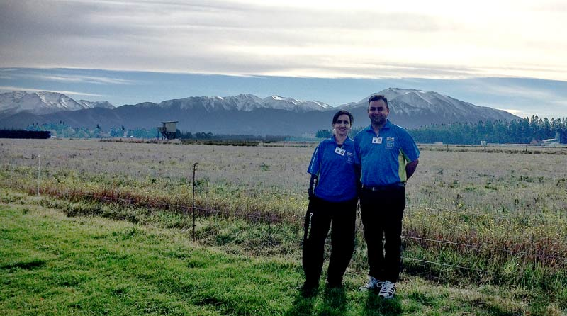 Sandeep and Richa love the views of the South Canterbury township as they go about their daily work.