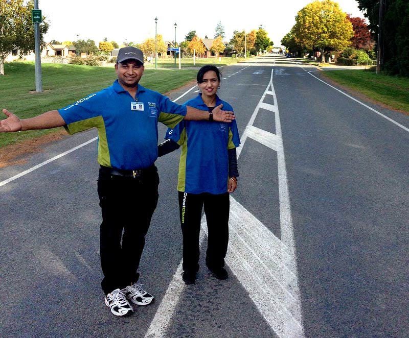 Auckland couple Sandeep and Richa Kumar can't believe the lack of traffic in Methven.