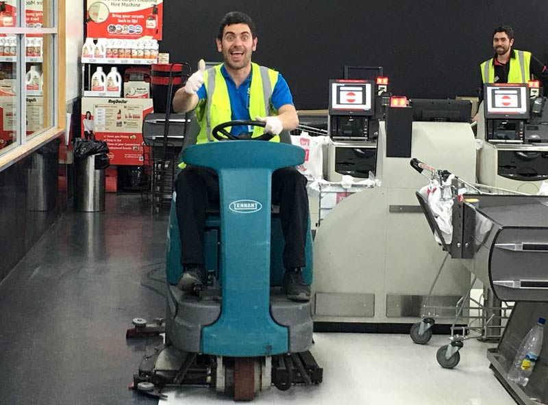 CrestClean franchisee Danny Mastroianni make a clean sweet at New World where he used to be a member of the supermarket's staff.