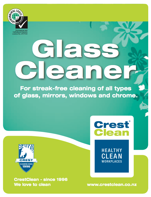 One of the range of CrestClean's five janitorial products that has gained Environmental Choice New Zealand compliance