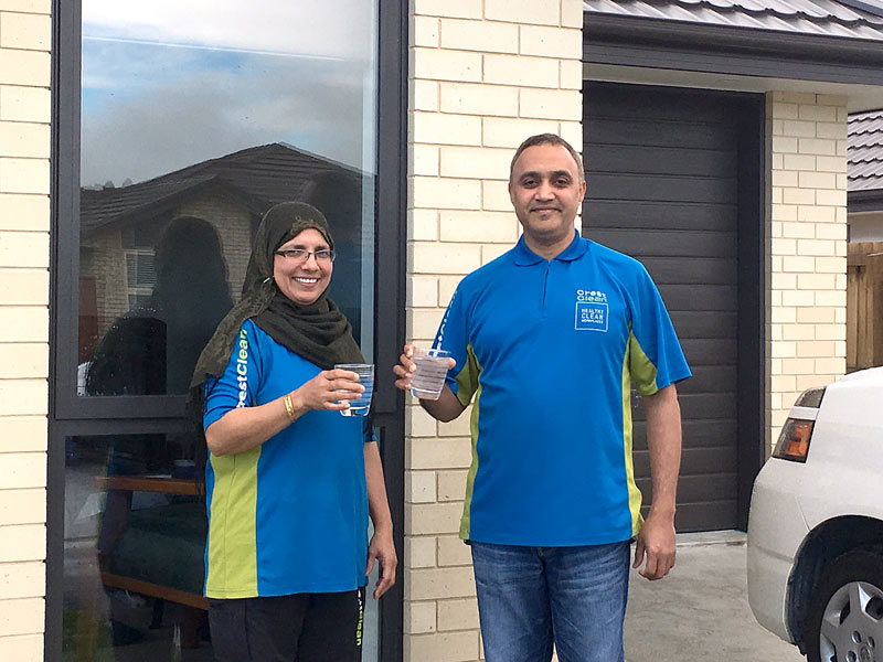 Nasreen and Nisar Kaskar invited CrestClean personnel to a housewarming party to celebrate moving into their new Christchurch home.