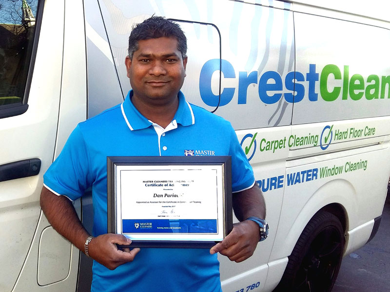 Dunedin franchisee Dan Pariachi is proud of his achievement.