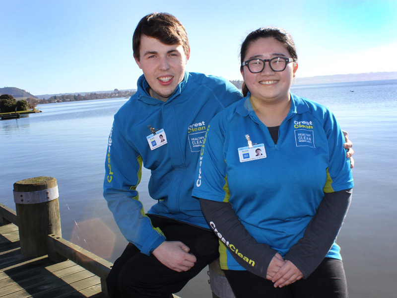 Jacob Lowry, 20, and Debbie Zhu, 21, love living in Rotorua.