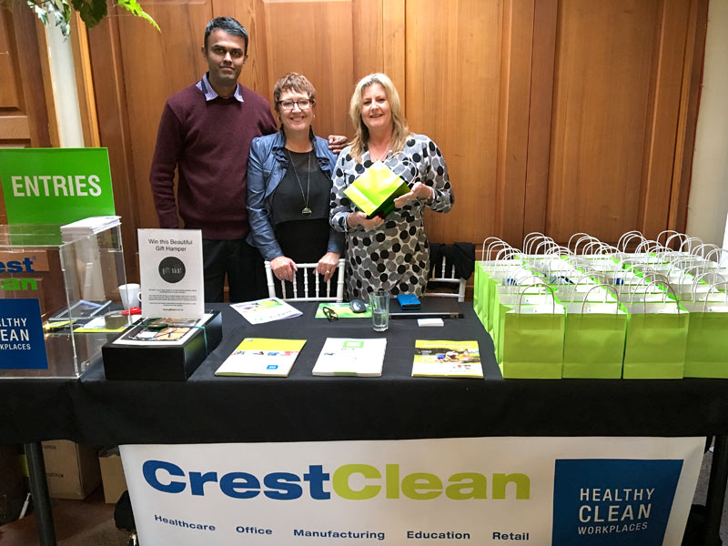 Neil Kumar, North Harbour Regional Manager, Caroline Wedding, Auckland West Regional Manager, and Wendy Harvey, from Alsco.