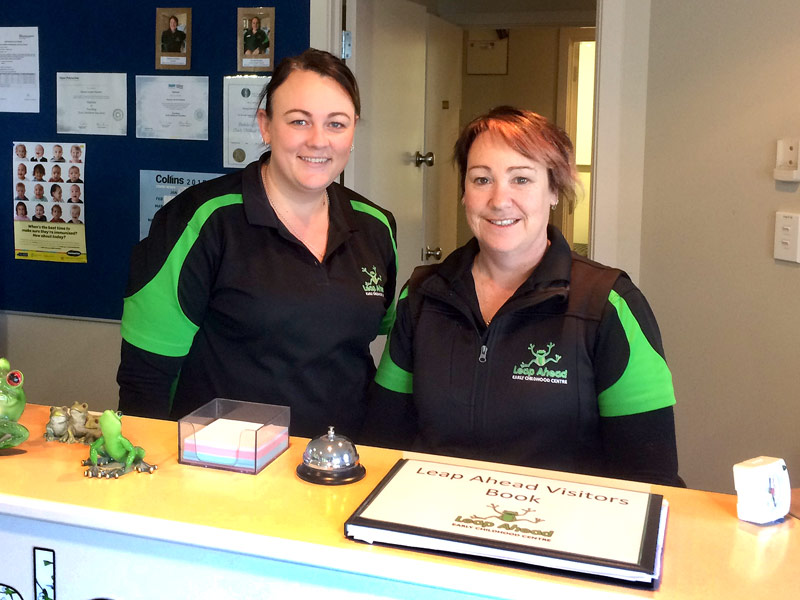Stacey Mangin and Kaylene Hindson are delighted with the cleaning at Leap Ahead Preschool in Methven.