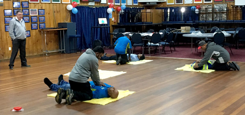 The course covered basic first aid and included advice on how to deal with burns, choking, broken bones, and hypothermia.