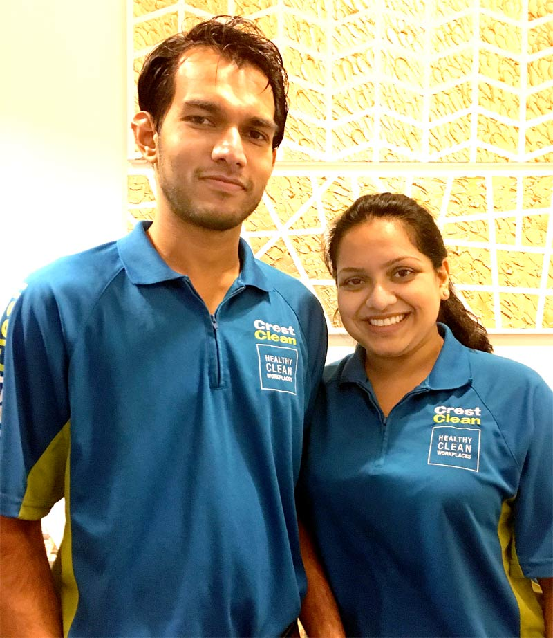 Leo Liyanage and Yahani Ranasinghe raised the alarm after fearing a fire was starting.