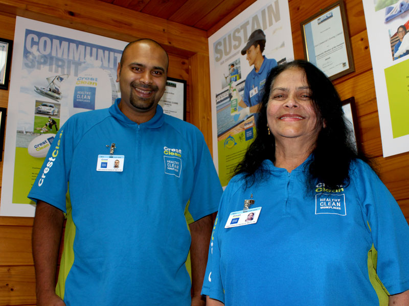 Aaron and Purnima Singh say they work really well together.