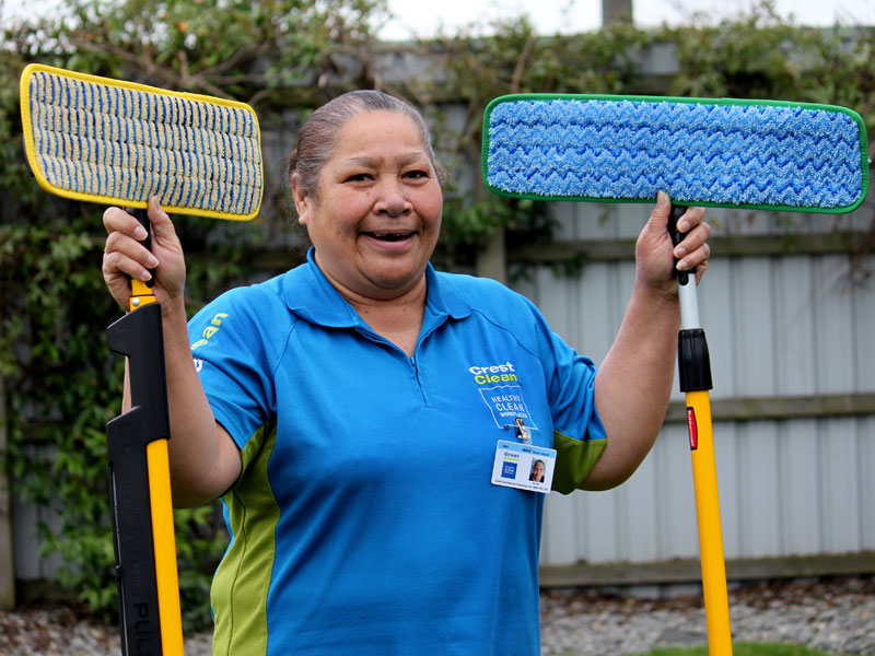 Sina Esau loves having her own cleaning business and says buying a CrestClean franchise has totally changed her life.