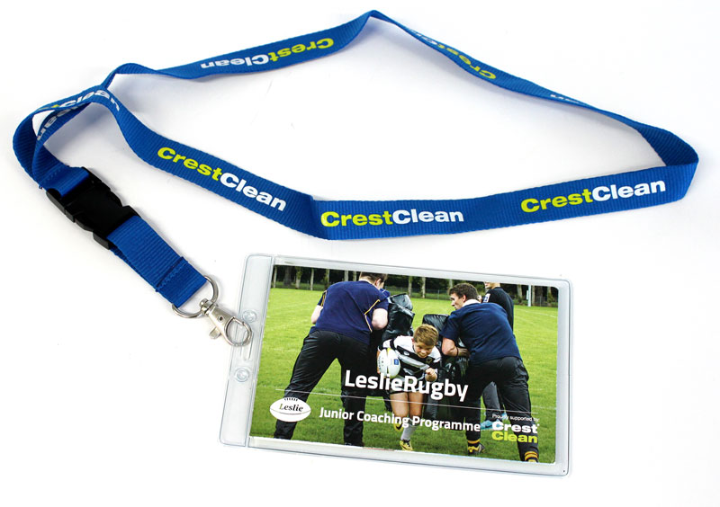 Everyone attending the coaching sessions receives a free lanyard with details of how to download the Junior Coaching Programme.