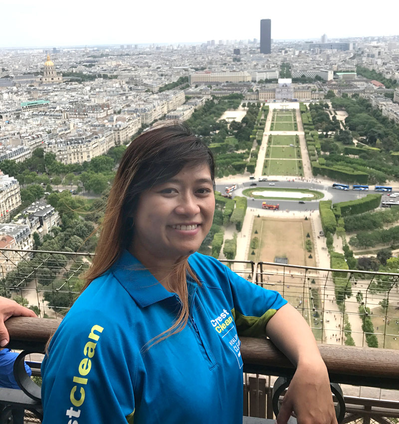 The view is stunning from the top of the Eiffel Tower.