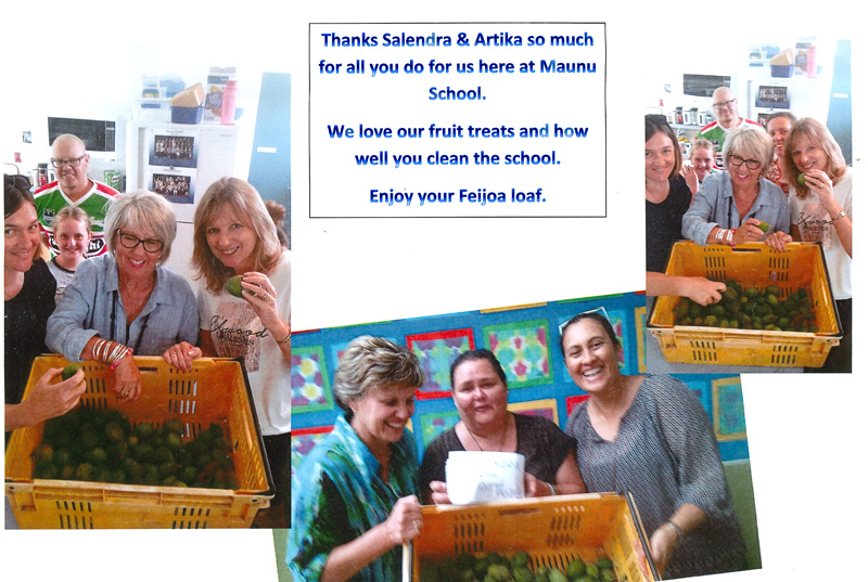 Maunu School.staff sent a pictorial 'thank you' card to Salendra and Artika.