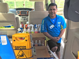 Ahimad Nur, who runs a $100,000 CrestClean business, overcame a major setback when he arrived in Napier to create a new life for his family.