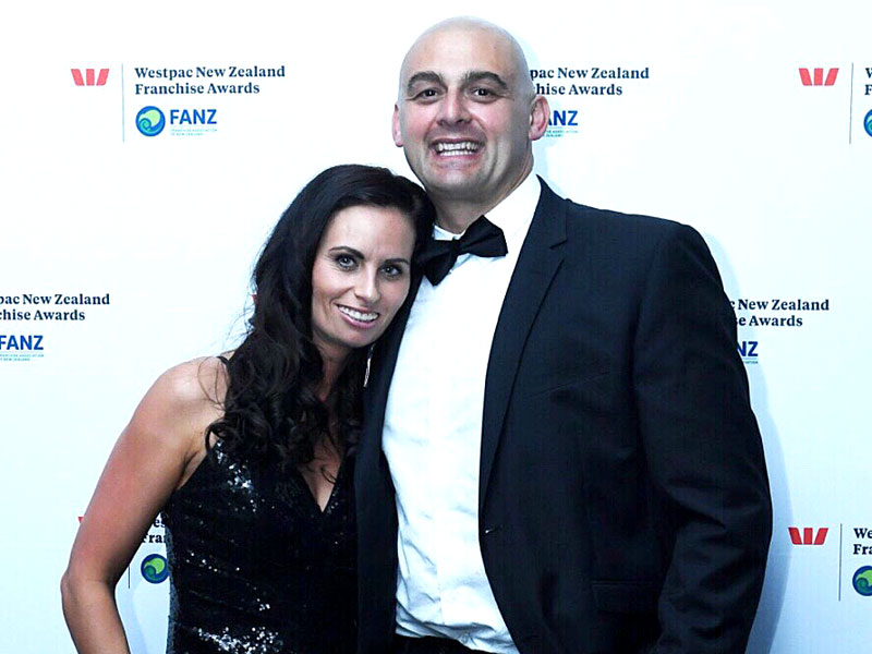 Tony and Nicky celebrated being finalists in the Master Franchisee of the Year category at the Westpac New Zealand Franchise Awards