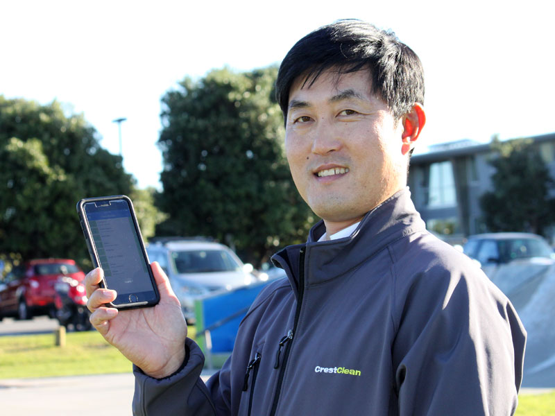 Woo Sung Lee was the first CrestClean QA to use the Resco system.
