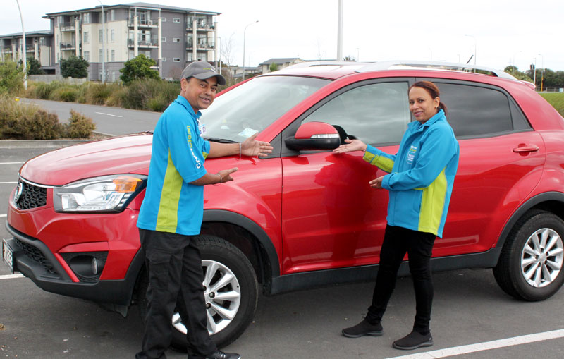 Biren and Swaran have just purchased a new car – a SSangyong Korando.