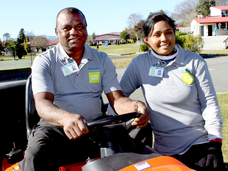 Hemant Kumar and Rajni Chand have made a big impression with staff at Rotorua Girls' High School.
