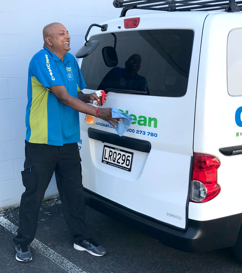 Permal Naidu loves to keep his Nissan NV200 sparkling clean.