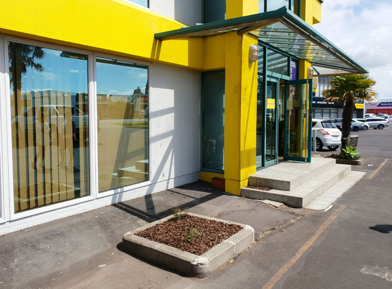 AFTER: A makeover has tidied up the building's frontage.