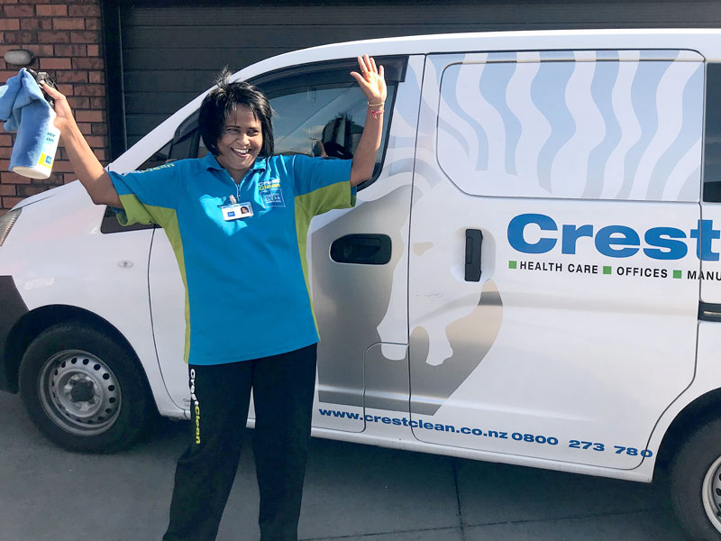 Rina Chand takes great pride in her business and keeping her Nissan NV200 shiny and clean.