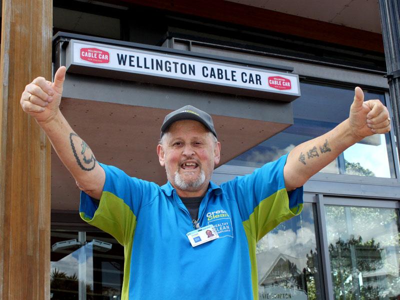 Roger Walker enjoys the satisfaction of doing a great job.
