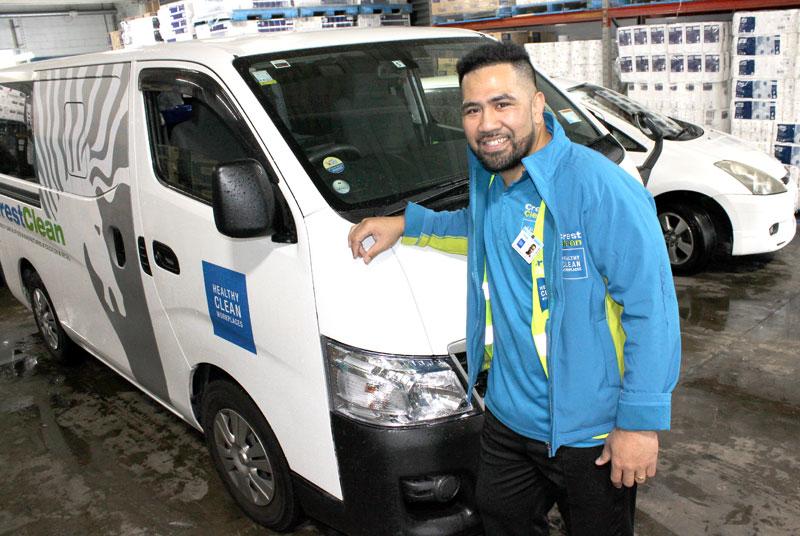 Malologa Faafoi is proud of his new Nissan NV350 van.