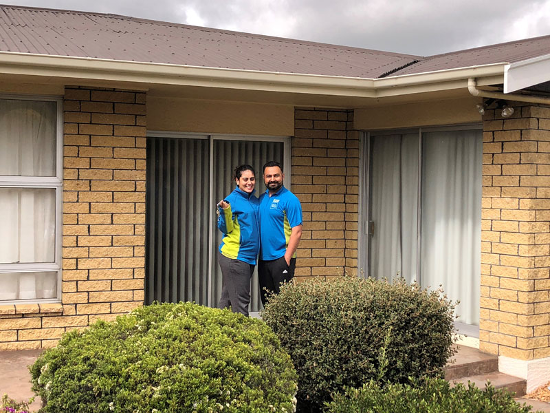 Randeep Singh and Kiran Kaur move into their first home.
