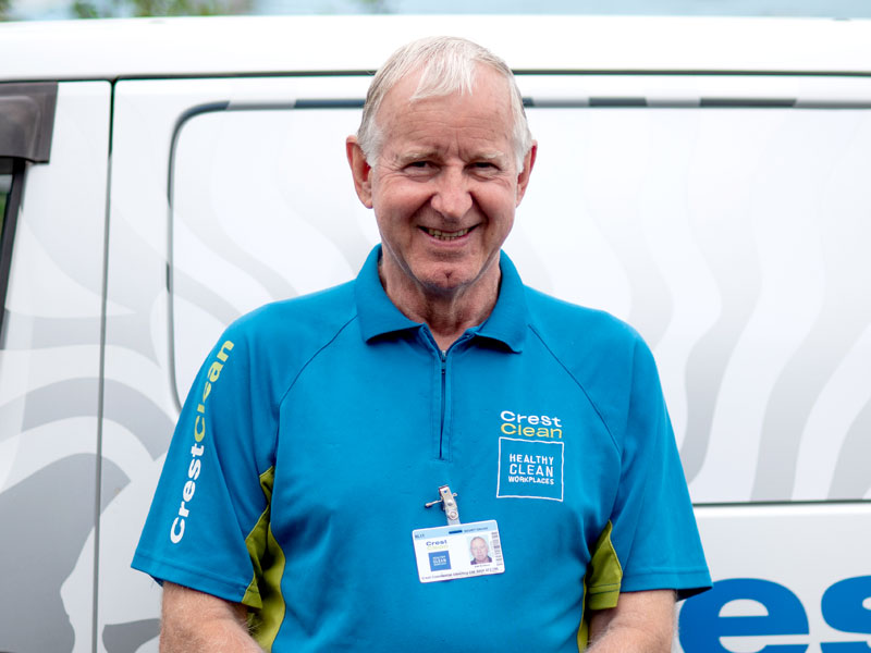Alan Erickson runs a large CrestClean business in Nelson.