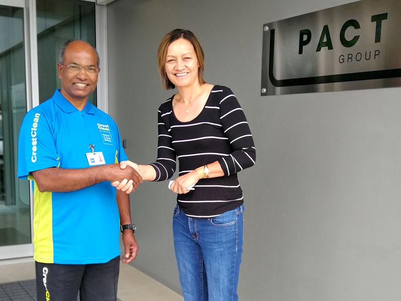 Dorsamy (Samy) Goundar with Tania Houghton at Pact Group.